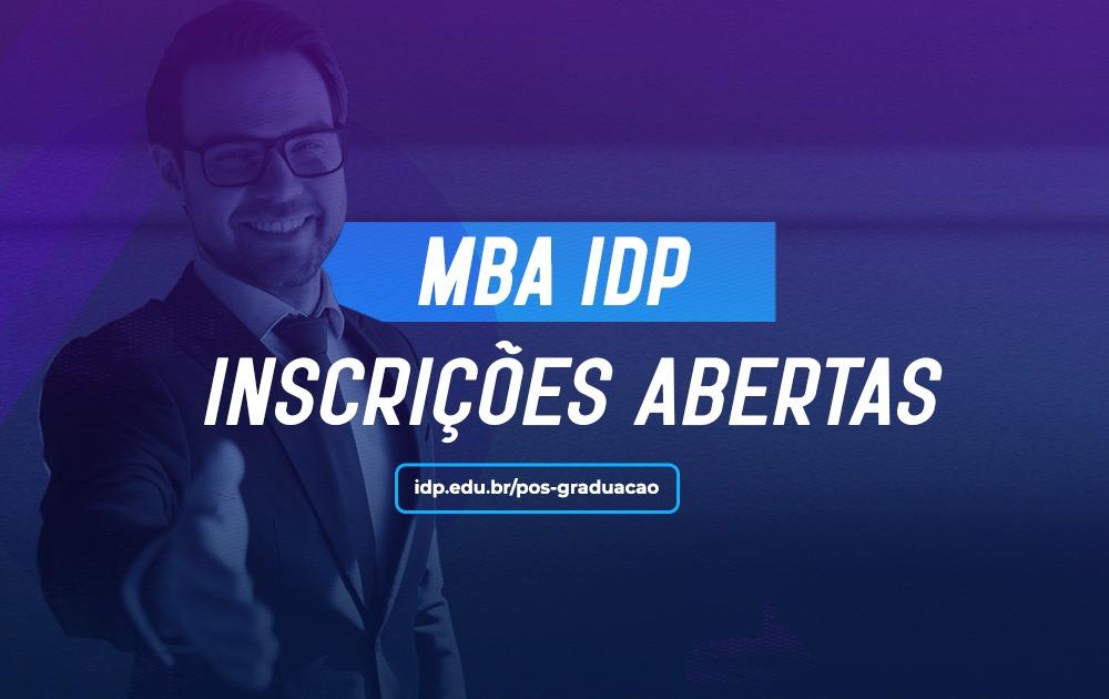 Inscrições abertas para os MBAs do IDP