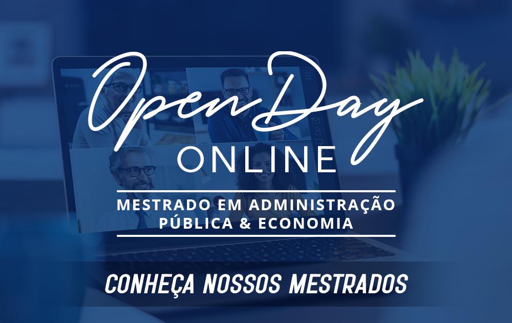 Open Day Online Mestrados em Administração Pública e Economia