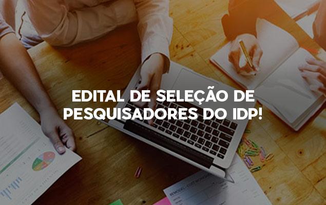 Edital aberto para a seleção de pesquisadores GPIA/IDP – CEPES