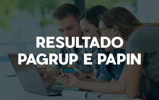 Resultado do Edital dos Programas PAGRUP E PAPIN 2021.1
